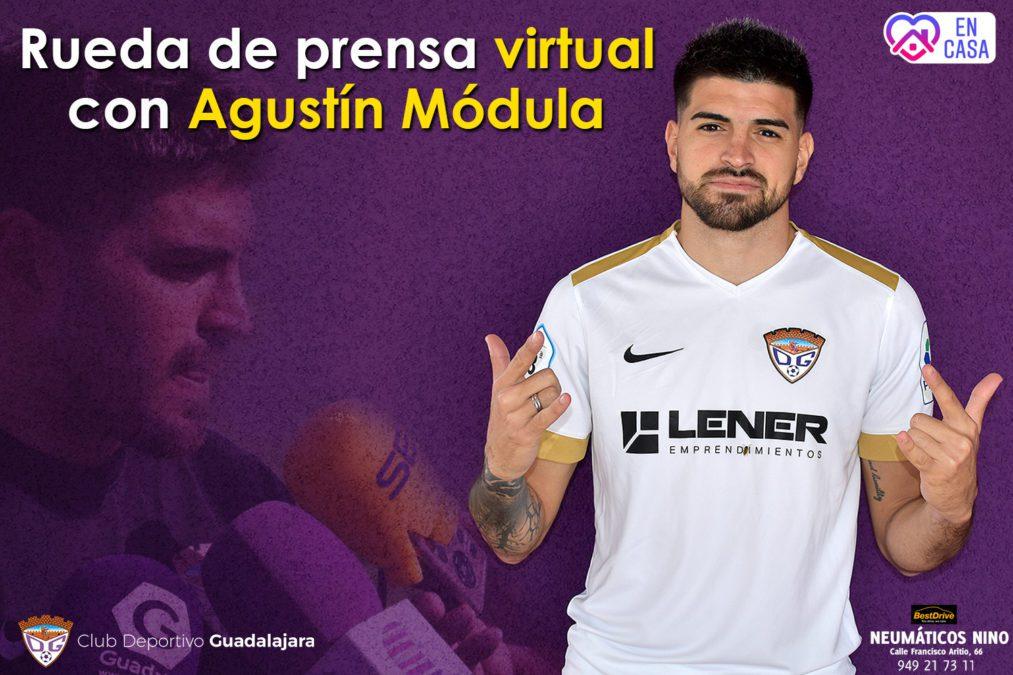 Rueda de prensa virtual con Agustín Módula