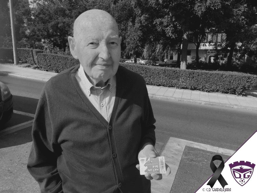 Luto en el C.D. Guadalajara por el fallecimiento de su abonado nº1 y uno de los fundadores, D. Justo Yela