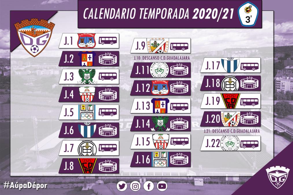 El C.D. Guadalajara ya conoce el calendario de Tercera División 2020/21