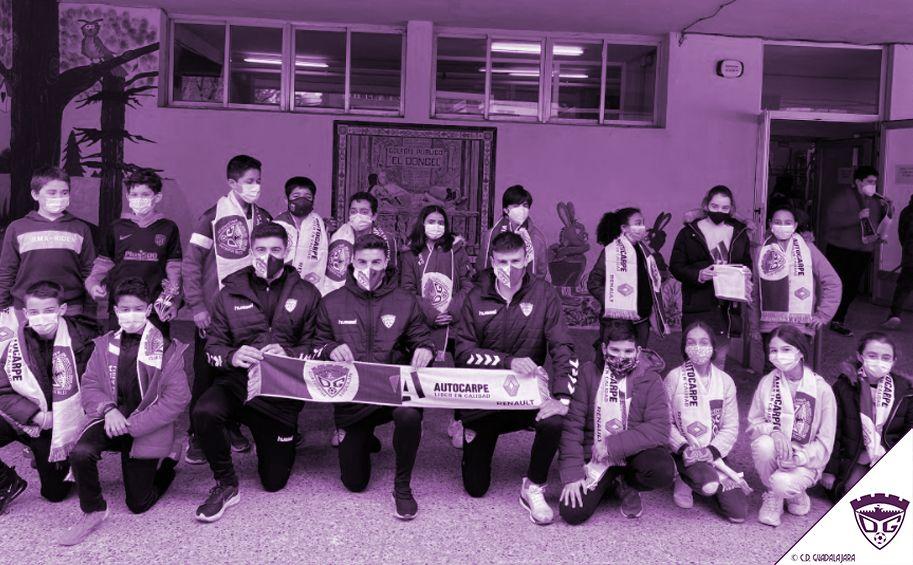 El C.D. Guadalajara visitará la semana que viene el colegio Santa Cruz y Adoratrices
