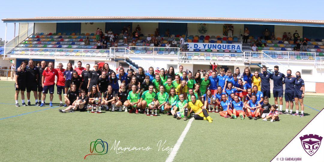 El C.D. Guadalajara Femenino queda subcampeón del Triangular en Yunquera